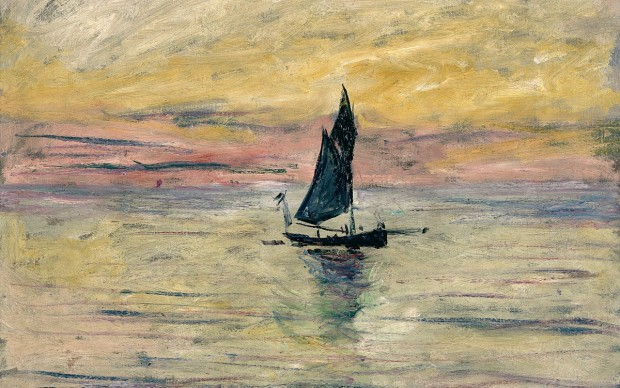 7 Claude Monet (1840-1926) Barca a vela. Effetto sera , 1885 Olio su tela, 54x65 cm Parigi, Musée Marmottan Monet © Musée Marmottan Monet, paris c Bridgeman-Giraudon / presse