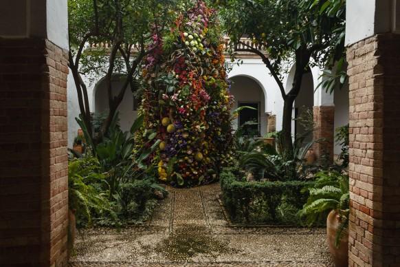 Flores Cosmos, Antena, FLORA International Flower Festival, Cordoba, 2017. Photo by © JOSÉ ROJAS / FESTIVAL FLORA
