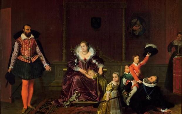 Jean-Auguste-Dominique Ingres, Henri IV recevant l'ambassadeur d'Espagne, 1817, huile sur toile. Paris, Petit Palais, musée des Beaux-Arts de la ville de Paris © RMN- Grand Palais, Agence Bulloz