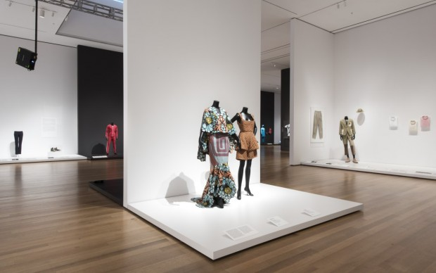 nstallation view of Items: Is Fashion Modern? The Museum of Modern Art, New York, October 1, 2017-January 28, 2018. © 2017 The Museum of Modern Art. Photo: Martin Seck