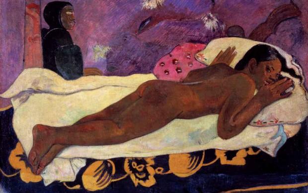 Paul Gauguin, L'esprit des morts veille (Manaò tupapau), 1892