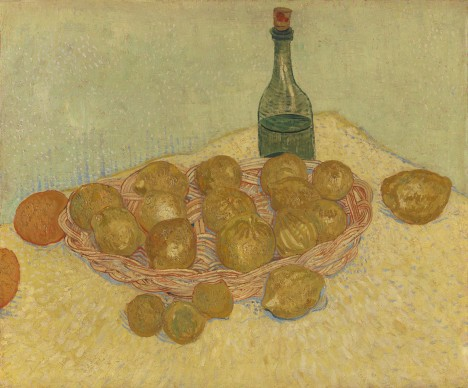 Vincent van Gogh, Cestino con limoni e bottiglia, 1888, Otterlo, Kröller-Müller Museum, The Netherlands