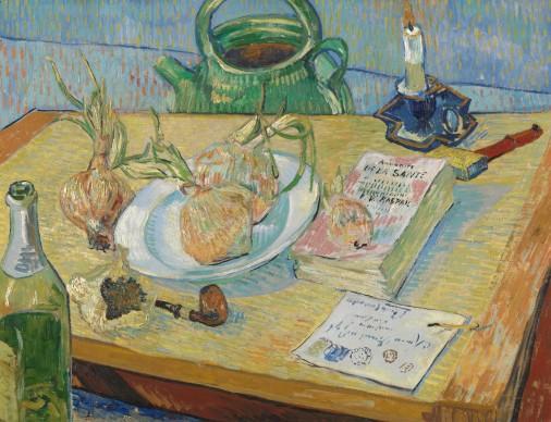 Vincent van Gogh, Natura morta con un piatto di cipolle, 1889, Otterlo, Kröller-Müller Museum, The Netherlands