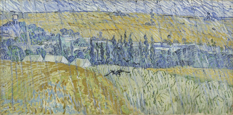 Vincent van Gogh, Paesaggio sotto la pioggia ad Auvers, 1890, Cardiff, Amgueddfa Cymru - National Museum Wales - The Davies Sisters Collection