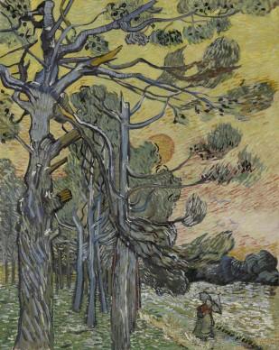Vincent van Gogh, Pini al tramonto, 1889, Otterlo, Kröller-Müller Museum