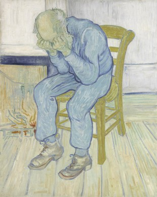 Vincent van Gogh, Vecchio che soffre (Alle porte dell'Eternità), 1890, Otterlo, Kröller-Müller Museum