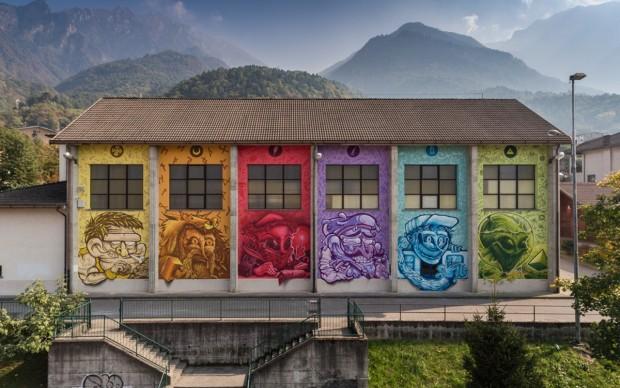 Wall in Art 2017. Art of Sool, Evoolution, Niardo, 2017. Ph Davide Bassanesi