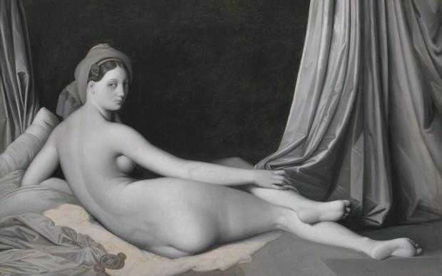Jean Auguste Dominique Ingres, Odalisque in grisaille, 1824-34