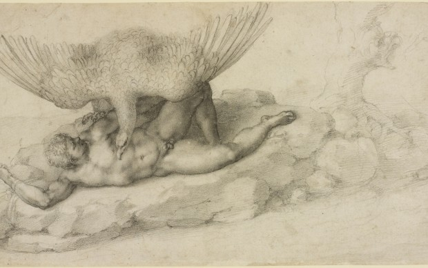 Michelangelo Buonarroti, Tityus, courtesy Queen Elizabeth II Windsor