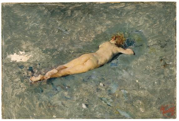 Mariano Fortuny, Nude Boy on the Beach at Portici, 1874, Madrid, Museo Nacional del Prado