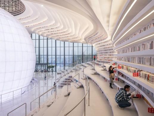 Tianjin Binhai Library by MVRDV - Courtesy Photo Ossip van Duivenbode