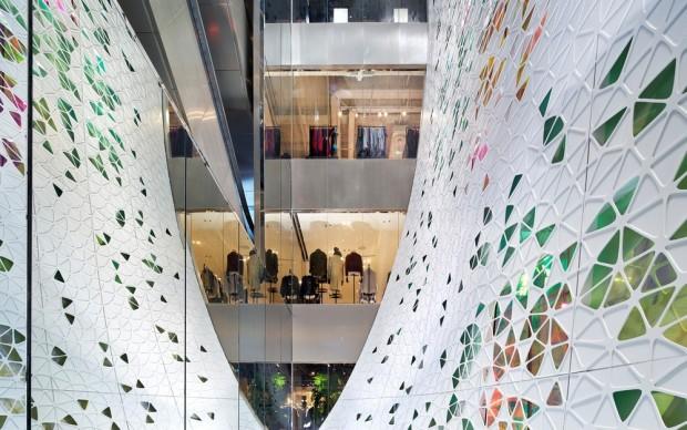 UUfie, Restyling dei grandi magazzini Printemps Haussmann, Parigi. Photo credit: Michel Denance
