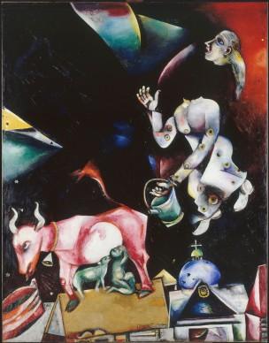 Marc Chagall, Russland, den Eseln und den anderen (A la Russie, aux ânes et aux autres), 1911(-1912) © Musée national d'art moderne, Centre Georges Pompidou, Paris / ProLitteris, Zürich