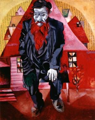 Marc Chagall, Der Jude in Hellrot (Le juif en rose), 1915 © Staatliches Russisches Museum, St. Petersburg / ProLitteris, Zürich