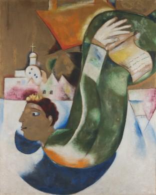 Marc Chagall, Der heilige Droschkenkutscher (Le Saint Voiturier), 1911-1912,  Städel Museum, Frankfurt a. M. © Städel Museum - ARTOTHEK / ProLitteris, Zürich