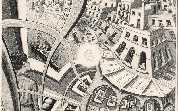 Maurits Cornelis Escher Galería de grabados 1956 Litgrafía, 31,9x31,7 cmo The Escher Foundation Collection All M.C. Escher works © 2017 The M.C. Escher Company. All rights reserved