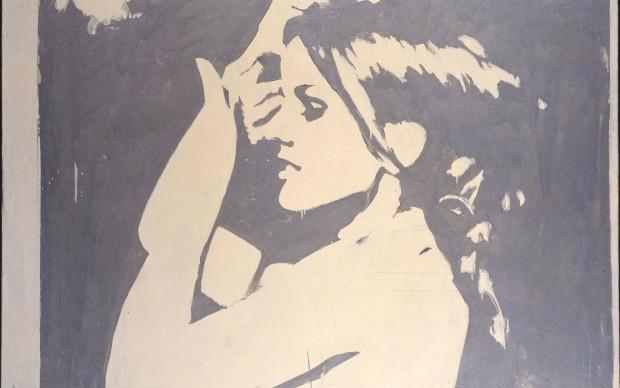 Giosetta Fioroni (Roma, 1932) La ragazza della TV , 1964 Smalto su tela 113,5 x 146,5 cm Dono dell'artista, 1967, Roma Museo Sperimentale, GAM – Galleria Civica d'Arte Moderna e Contemporanea, Torino