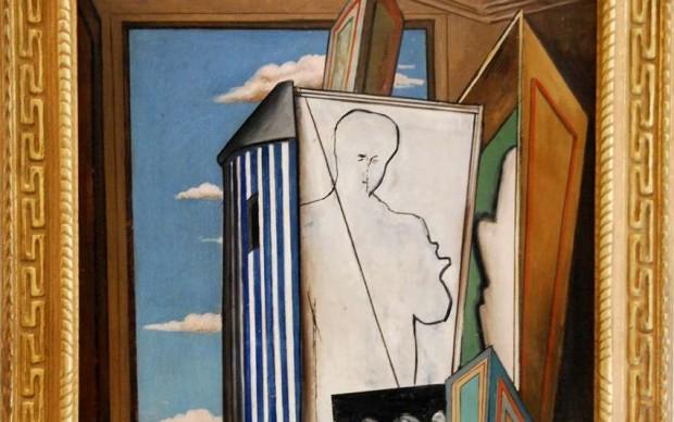 Giorgio de Chirico, Composition avec autoportrait, Musée des Beaux Arts Béziers
