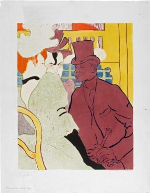 Henri de Toulouse-Lautrec, El inglés en el Moulin Rouge (L'Anglais au Moulin Rouge), 1892, Szépművészeti Múzeum, Budapest