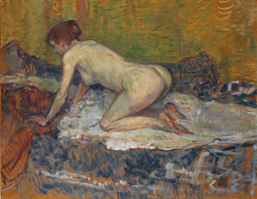 Henri de Toulouse-Lautrec, Desnudo de pelirroja agachada (Femme rousse nue accroupie), 1897, San Diego Museum of Art. Donación de la Baldwin M. Baldwin Foundation, 1987
