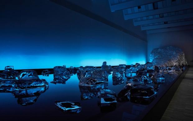 Michel Comte Black Light Triennale installazione
