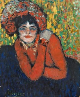 Pablo Picasso, La espera [L'Attente] (Margot), 1901, Museu Picasso, Barcelona. Aportación del Ayuntamiento de Barcelona, 1963