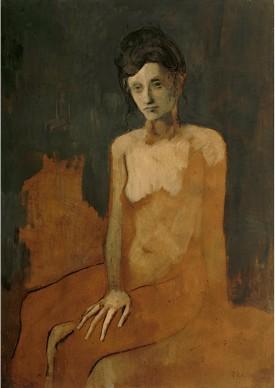 Pablo Picasso, Desnudo sentado (Nu assis), 1905, Musée national Picasso, París. Depósito del Centre Pompidou, París, Musée national d'art moderne/Centre de création industrielle. Adquirido en 1954