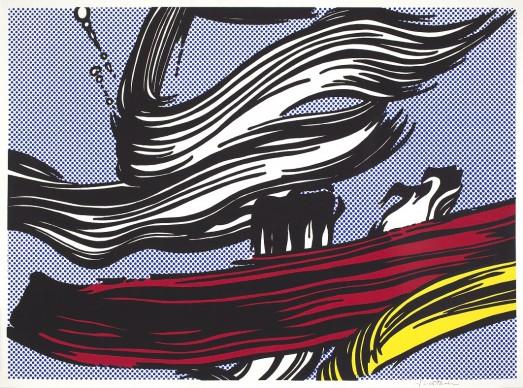 Roy Lichtenstein, Brushstrokes,1967. Estate of Roy Lichtenstein, Pictoright Amsterdam 2017