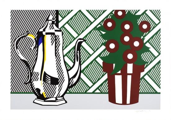 Roy Lichtenstein, Still Life with Coffee Pot and Flower Pot, 1974.. Estate of Roy Lichtenstein, Pictoright Amsterdam 2017