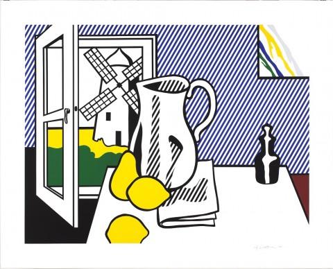 Roy Lichtensteinm, Still Life with Windmill, 1974. Estate of Roy Lichtenstein, Pictoright Amsterdam 2017