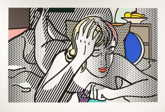 Roy Lichtenstein, Thinking Nude, 1994