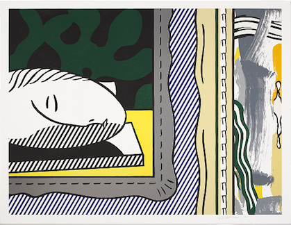 Roy Lichtenstein, Two Paintings - Sleeping Muse, 1984