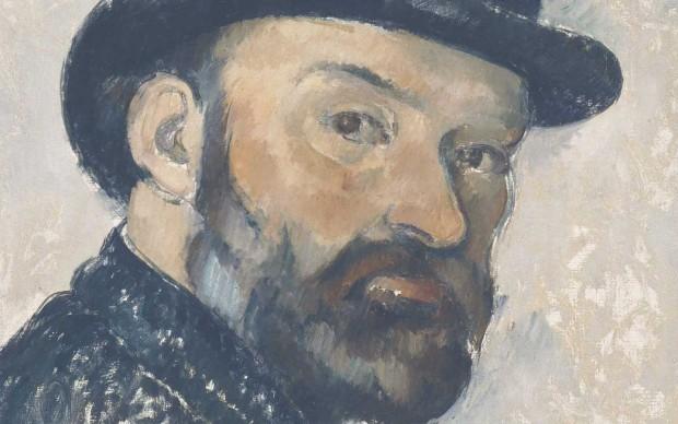 Paul Cézanne, Autoritratto con bombetta, 1885-86. NY Carlsberg Glyptotek, Copenhagen. Photo by Ole Haupt