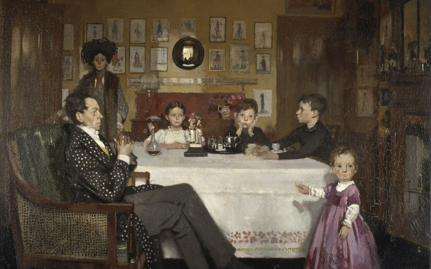 William Orpen A Bloomsbury Family, 1907 Oil on canvas 86.5 cm Scottish National Gallery (GMA 881) © National Galleries of Scotland