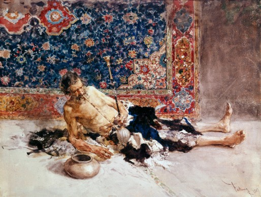Mariano Fortuny,  The Opium Smoker, 1869, Saint Petersburg, Hermitage Museum