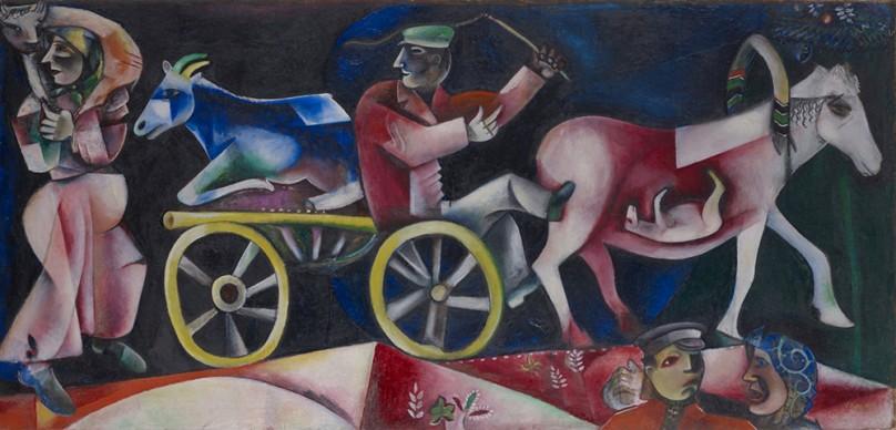 Marc Chagall, Le marchand de bestiaux, 1912 © Kunstmuseum Basel / ProLitteris, Zürich
