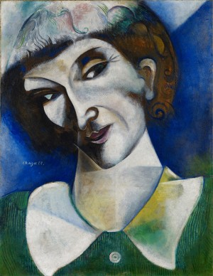 Marc Chagall, Selbstbildnis (Portrait de l'artiste), 1914 © Stiftung Im Obersteg, Depositum im Kunstmuseum Basel 2004 / ProLitteris, Zürich