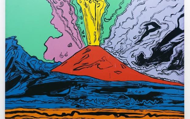 Andy Warhol Vesuvius 1985 acrilico su tela; cm. 230 x 300 Courtesy Museo e Real Bosco di Capodimonte, Napoli Foto © Luciano Romano