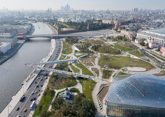 Zaryadye Park, Mosca. Photography by Iwan Baan -Courtesy Diller Scofidio + Renfro