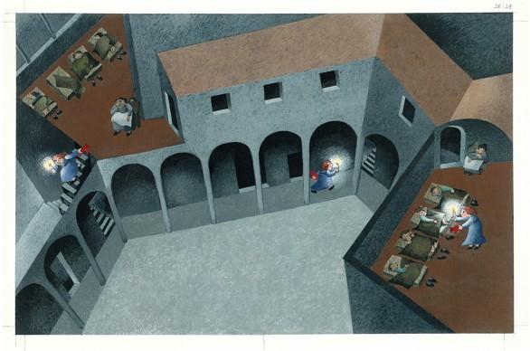 Letizia Galli, un'illustrazione dal libro Agata Smeralda, in mostra a Venezia
