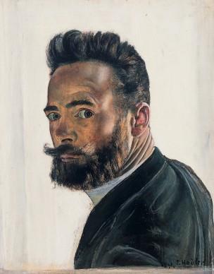 Ferdinand Hodler, Self Portrait (From Paris), 1891. Musée d'art et d'histoire, Geneva, deposit at the Gottfried Keller Foundation, Bern. Foto: Bettina Jacot-Descombes