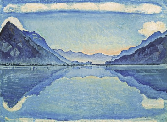 Ferdinand Hodler, Lake Thun with simmetrical reflection. 1909. Musée d'art et d'histoire, Geneva.