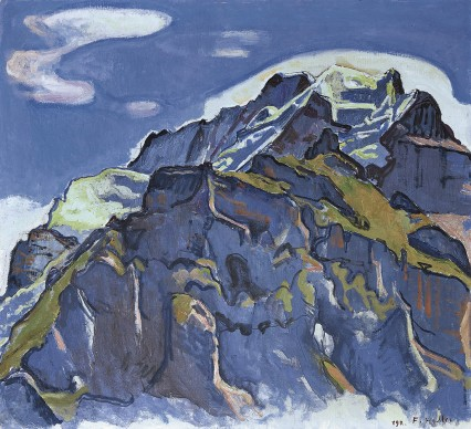 Ferdinand Hodler, Jungefrau Massiv from  Murren, 1911. Private collection Switzerland. Foto: Lucian Hunziker