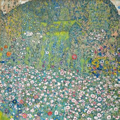 Gustav Klimt, Garden landscape with hilltop, 1916. Kunsthaus Zug, Stiftung Sammlung Kamm. Foto: Kunsthaus Zug/Alfred Frommenwiler