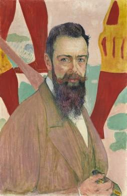 Cuno Amiet, Portrait of Ferdinand Hodler in front of his Marignano painting. Kunstmuseum Solothurn, Dübi-Müller-Stiftung. Foto: Kunstmuseum Solothurn© M. u. D. Thalmann, CH-3360 Herzogenbuchse