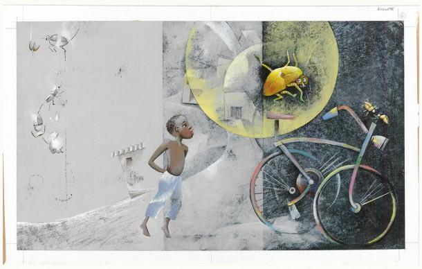 Letizia Galli, un'illustrazione del libro Come una farfalla, in mostra a Venezia