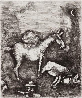 Marc Chagall, I due muli, acquaforte