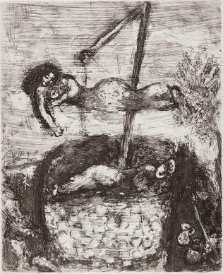 Marc Chagall, La fortuna e il bambino, acquaforte