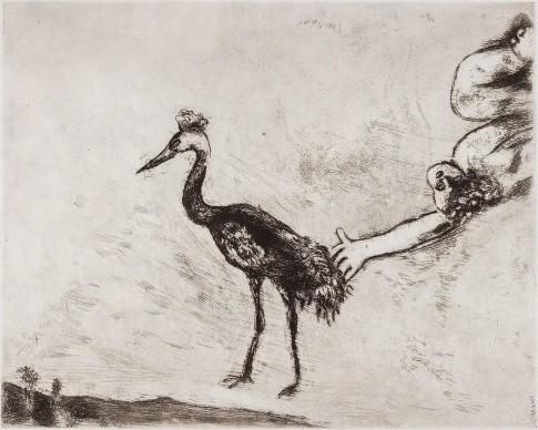 Marc Chagall, Le rane vogliono un re, acquaforte
