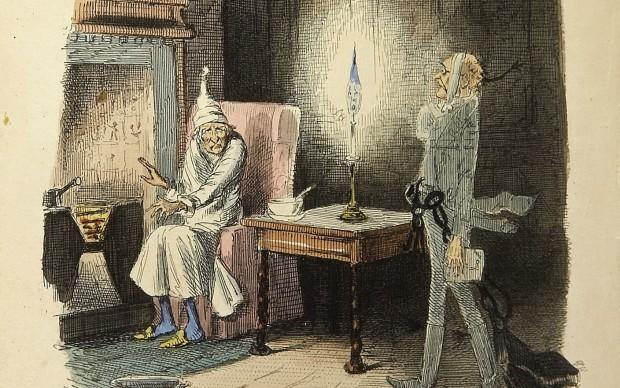 Charles Dickens, Canto di Natale, illustrazione di John Leech, 1843